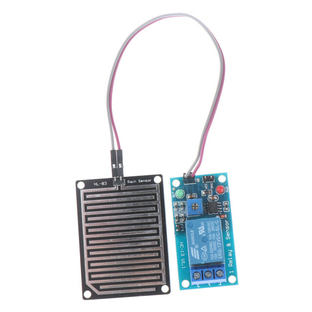 !Rain water sensor Detection module+DC 5V 12V Relay Control Module for arduino