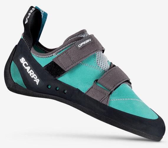 shoestte Arrampicata Climbing women SCARPA ORIGIN WMN Green bluee CAMPIONARIO