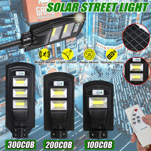 100-300COB-Lampada-da-Parete-LED-Solare-Sensore-PIR-per-Esterno-Impermeabile