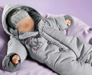 neu klitzeklein grau baby schneeanzug 68 74 jungen m dchen uvp 49 90 ebay. Black Bedroom Furniture Sets. Home Design Ideas