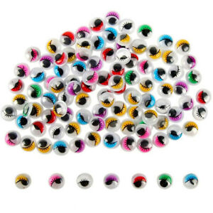 Colorful-Round-Self-adhesive-Wiggly-Googly-Eyes-with-Eyelash-For-Doll-Toy-Eyeful