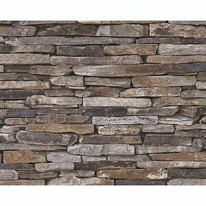 Details About Natural Stone Slate Wallpaper 10m A S Creation 9142 17 New