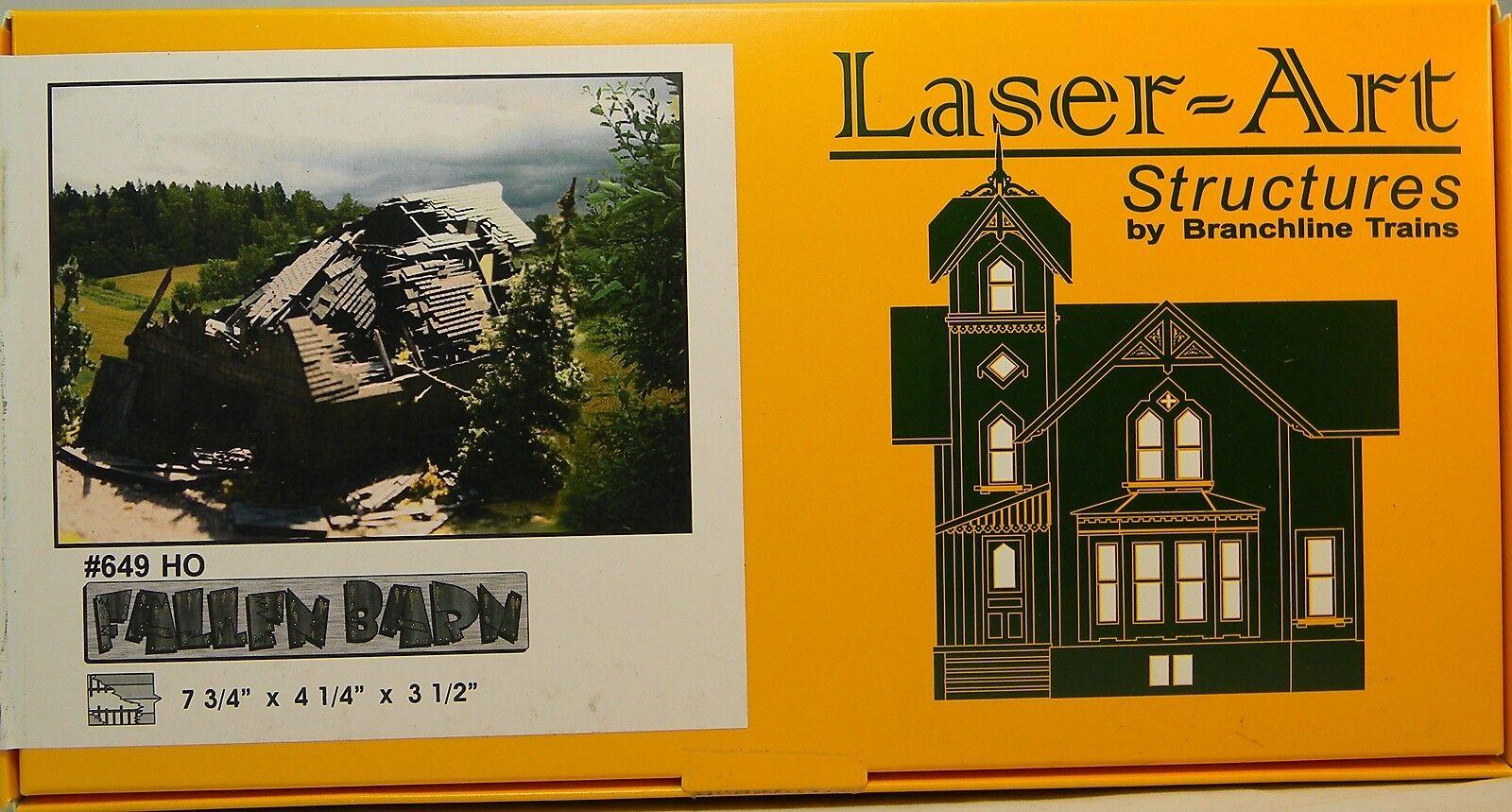 Nuevo En Caja Ho Branchline laser-art caído granero Kit