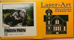 NIB-HO-Branchline-Laser-Art-649-Fallen-Barn-Kit