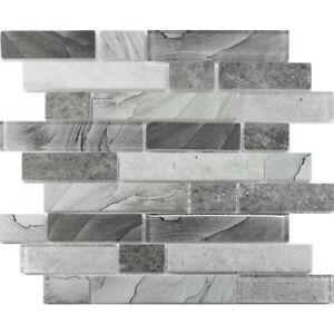 Printed Interlocking Linear Mosaic Tile