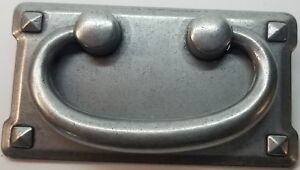 Arts and Crafts or Mission style horizontal and vertical matching pulls antique copper and pewter finish