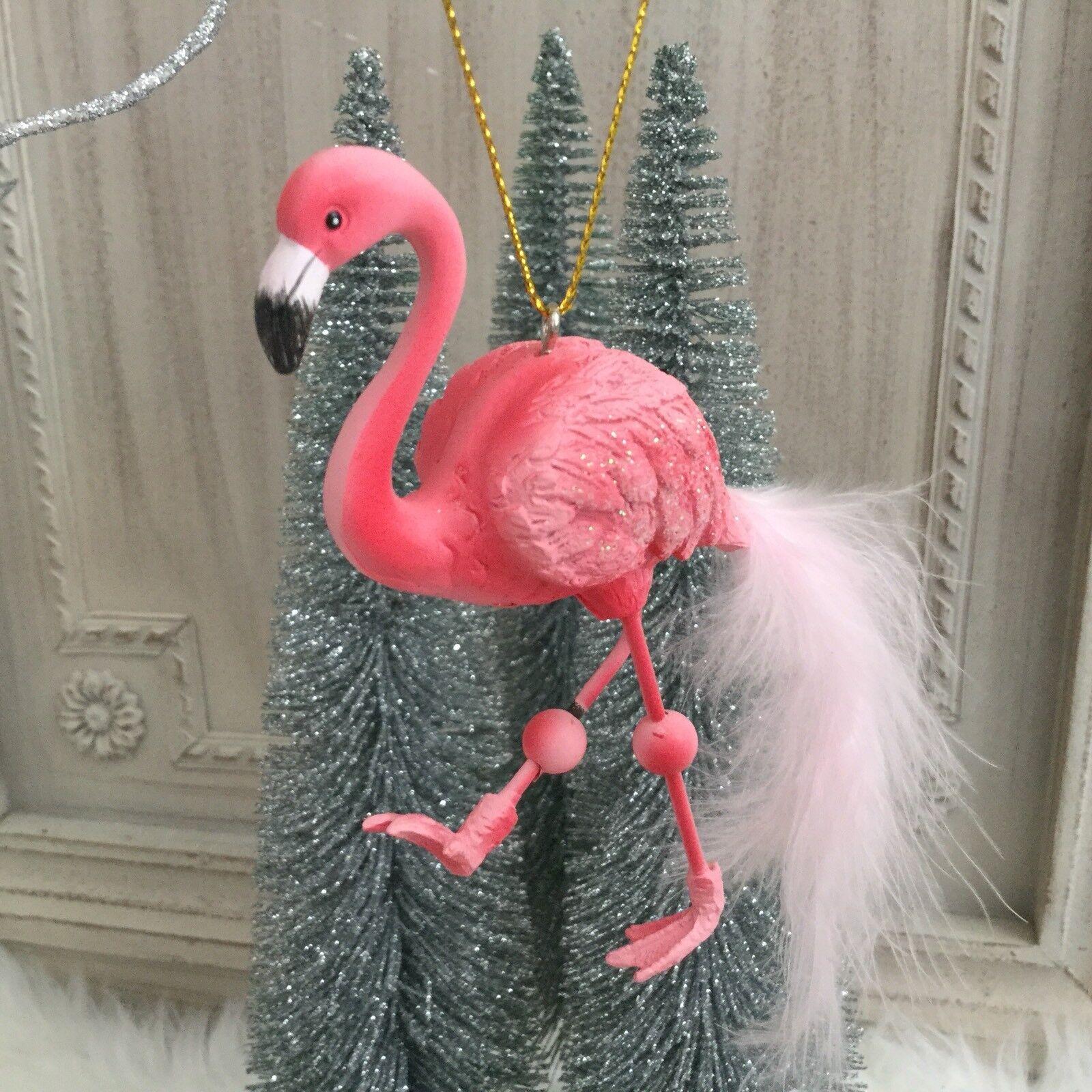 the latest 35773 9e437 Flamingo Hanging Christmas Tree Decoration Pink Feather Gisela Graham  Novelty