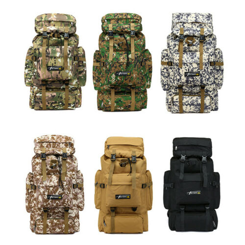 AM/_ 70L Camping Hiking Nylon Backpack Travel Rucksack Luggage Molle Tactical Bag