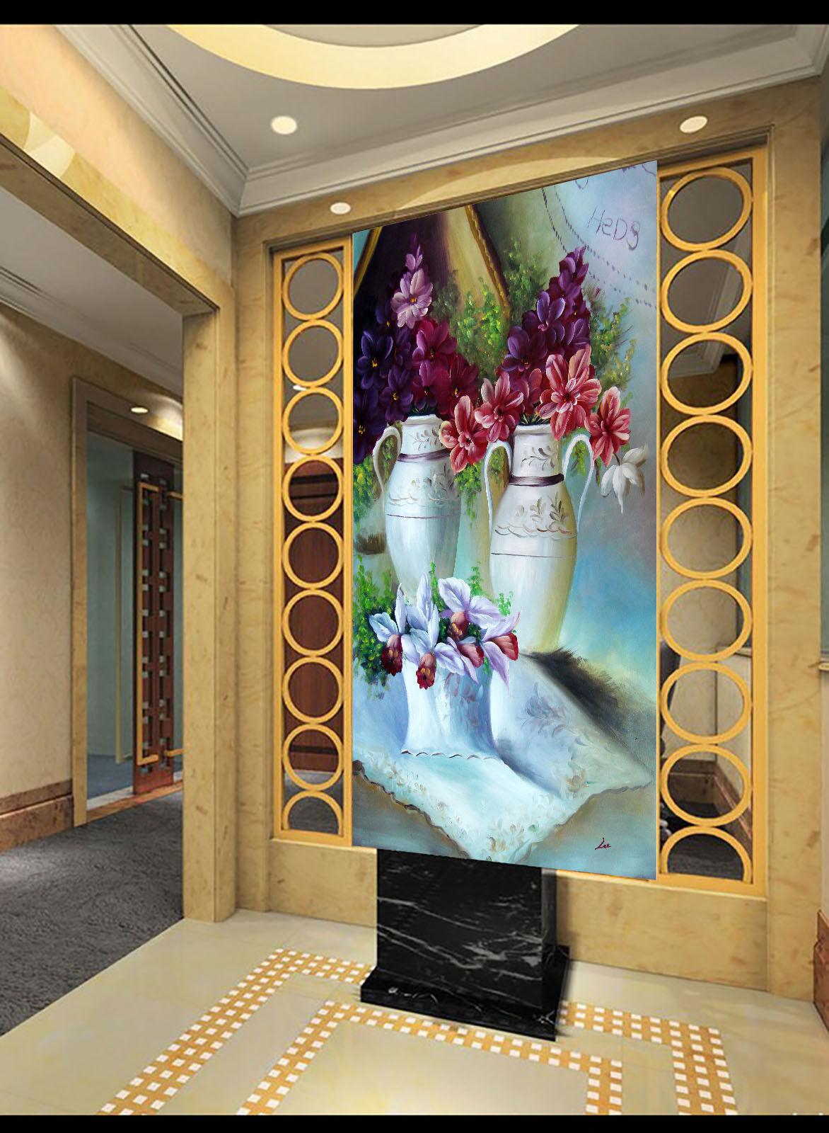 3D Petal Vase 511 Wallpaper Murals Wall Print Wall Mural AJ WALLPAPER UK Jenny