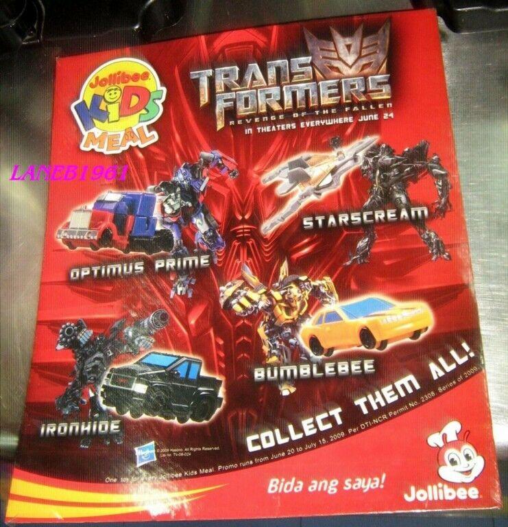 2009 4 TRANSFORMERS MOVIE rossoF  cifra BUMBLEBEE IRONHIDE giocattolo series 3 JOLLIBEE  risparmiare fino all'80%