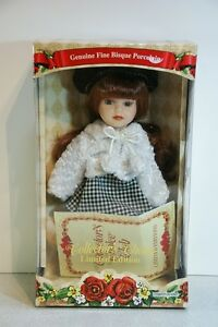 Collector's Choice Genuine Fine Bisque Porcelain Doll - COA Included