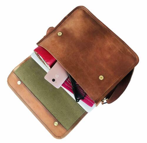 Bag Leather Vintage Goat bag Messenger Brown Laptop Men Briefcase Real Shoulder