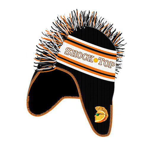 (2) Shock Top Black Mohawk Knit Beanie Free Shipping in USA New in Bag