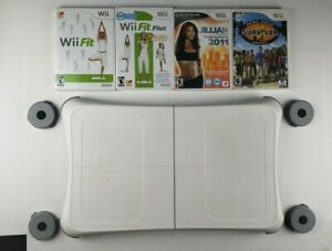 Wii Workout Bundle - Nintendo Wii Fit Plus Balance Board,  And 4 Games