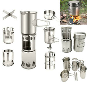 Outdoor-Camping-Stove-Cooking-Pot-Set-Stainless-Steel-Tableware-Cookware-Tools