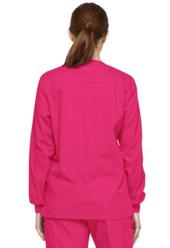 Hot Pink Dickies Scrubs EDS Signature Snap Front Warm Up Jacket 86306 HPKZ