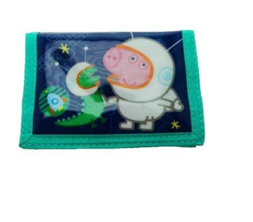 Girls Boys Peppa Pig Wallet George  Character Toddler Purse Fold Over Case