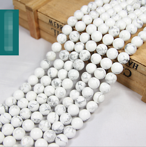 15-034-4mm-6mm-8mm-10mm-12mm-Natural-White-Turquoise-Gemstone-Round-Beads