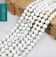 15-034-4mm-6mm-8mm-10mm-12mm-Natural-White-Turquoise-Gemstone-Round-Beads thumbnail 1