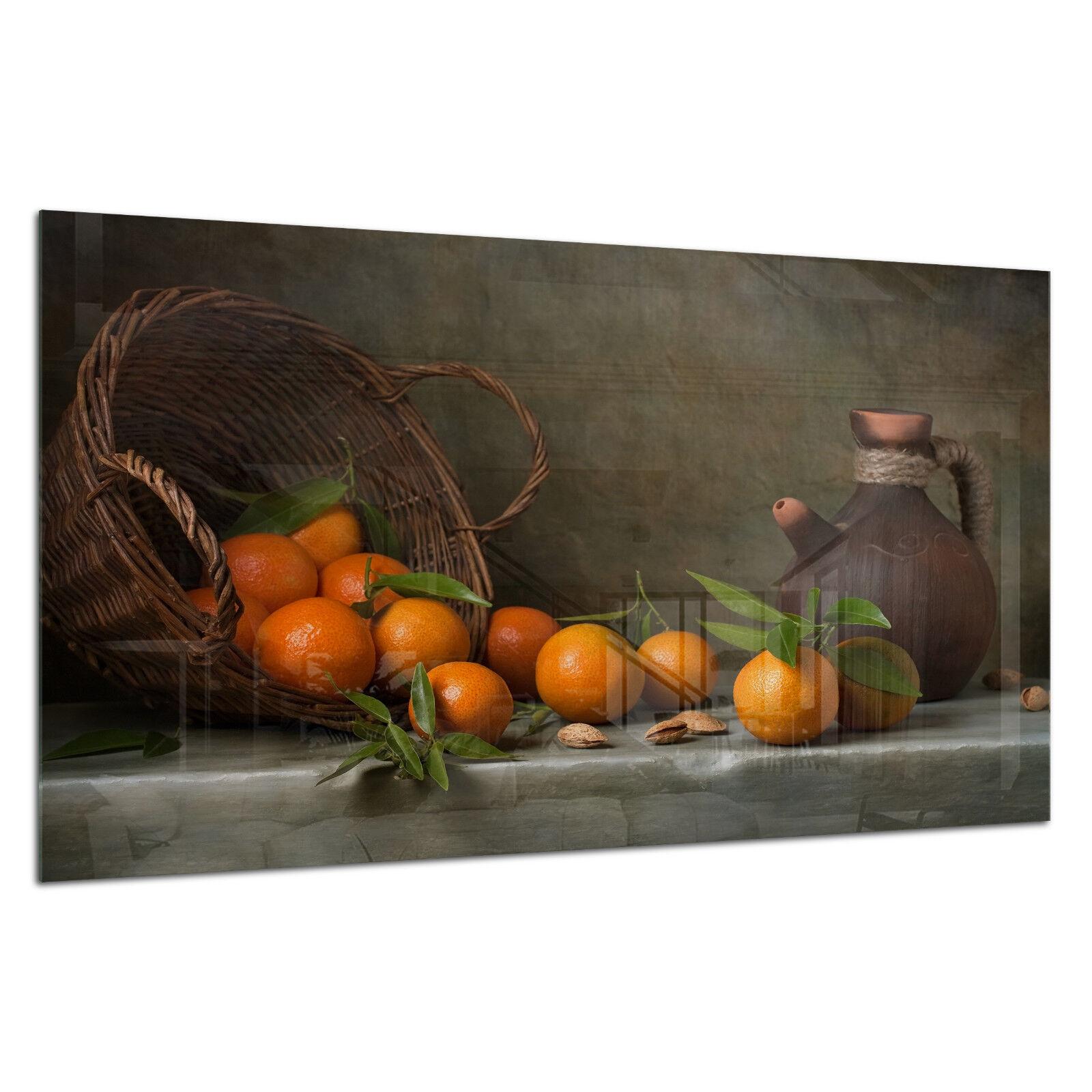Vidrio templado de ESG Foto Impresión Parojo Arte Cuadro Bodegón Prizma GWA0322 Naranja