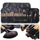 Pro 24Pcs Superior Soft Cosmetic Makeup Brush Set Brushes Kit + Pouch Bag Case