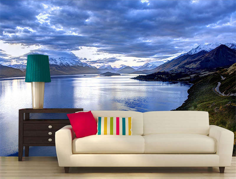 Lake In New Zealand Full Wall Mural Photo Wallpaper Print Kids Home 3D Decal