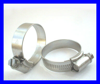 22-30mm Marine Grade STAINLESS HOSE CLIPS 2 Pack