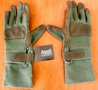 Ansell Hawkeye Combat Gec Gloves 46-405 Leather Palm (l) 276118 Protection >new