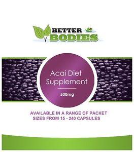 Forte-dieta-Acai-Berry-Capsule-Pillole-Dieta-Perdita-di-peso-supplementi-Tablet-UK