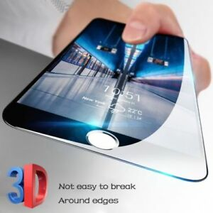 Pour-Nouvel-IPHONE-7-plus-3D-arrondi-Complet-Housse-noir-protection-d-039-ecran-verre-trempe
