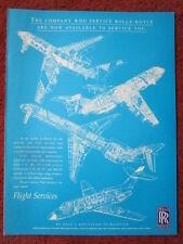 11/1992 PUB ROLLS-ROYCE FLIGHT SERVICES BRISTOL AIRCRAFT MAINTENANCE ORIGINAL AD