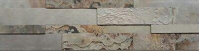 Treu Natursteinriemchen Selbstklebend Musterstück 3d Macedonian 15x30cm Anthrazit Chinesische Aromen Besitzen Sonstige Baustoffe & Holz