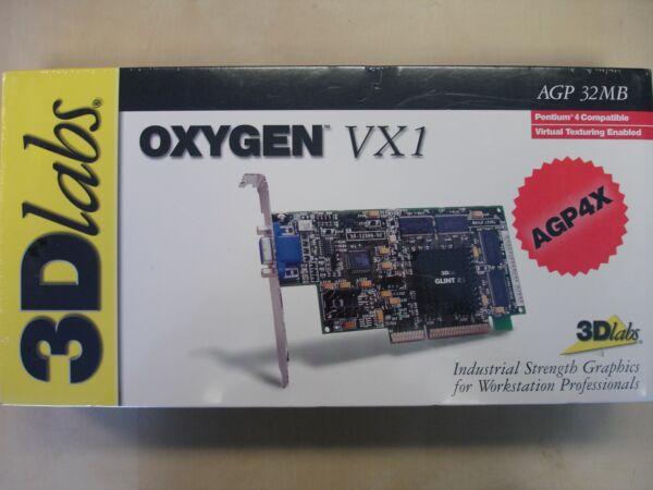 100% Waar 3dlabs Oxygen Agp4x 32mb Video Adapter New