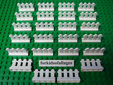 24 Lego White Picket Fence Friends Creator City House Gate Piece MOCs Part 33303