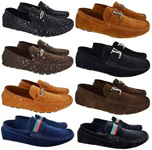 MENS-SLIP-ON-BOYS-CASUAL-DESIGNER-MOCASSIN-BOAT-LOAFERS-DRIVING-DESK-SHOES-SIZE