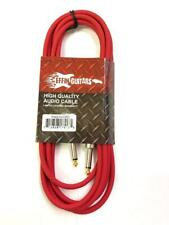 "Effin Guitars  FNG20CRD Red 20 Foot 1//4/"" Jack Professional Instrument Cable"