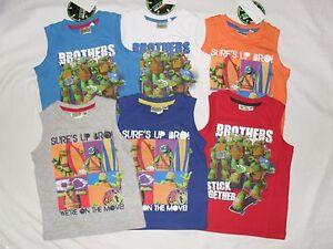 BNWT-ninja-turtles-vest-top-sleeveless-t-shirt-2-3-3-4-5-6-7-8years