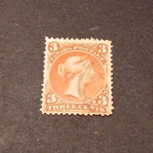 Canada-Stamp-Scott-25-Queen-Victoria-1868-76-C325