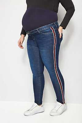 Yours Clothing Womens Plus Size Navy Blue Jersey Jogger Shorts Elasticated 16-32