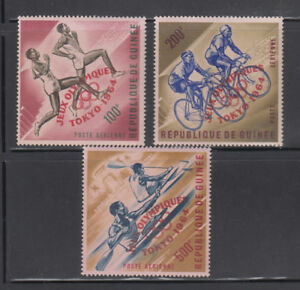 Guinea-1964-Olympics-Airmails-Sc-C58-C60-Mint-Never-Hinged