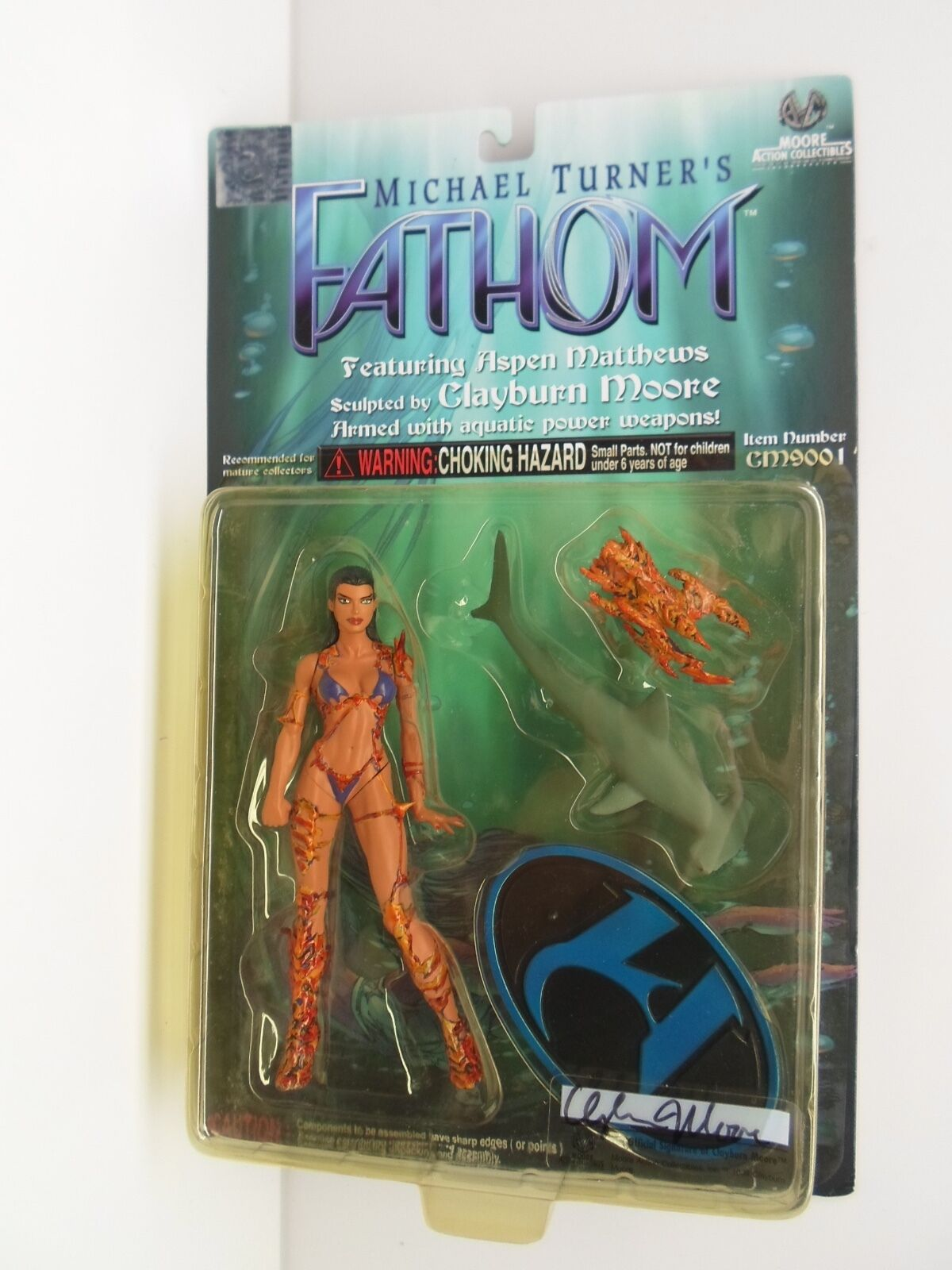 Fathom Moore Action Collectibles ASPEN MATTHEWS Autograph by Clayburn Moore