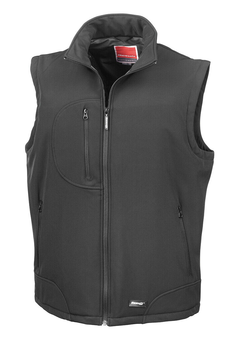 Result Unisex Soft Stretch Softshell Softshell Softshell Bodywarmer Warm Waterproof Breathable Gilet 3319e5