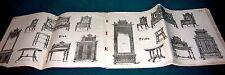 Gründerzeit Möbel Muster Buch Katalog ca. 1870 mit 64 Tafeln