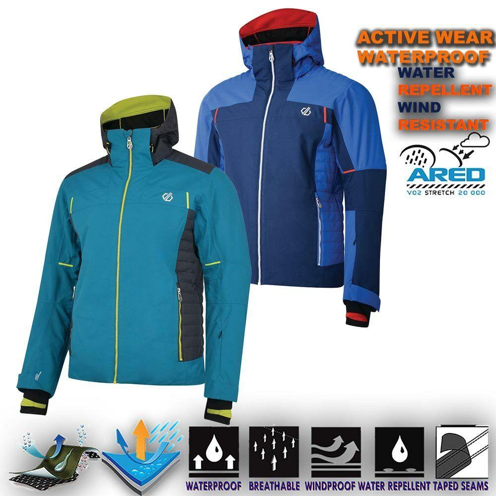 Chaqueta De Esquí Para Hombre Impermeable Senderismo Al Aire Libre Acolchada Acolchado Impermeable con Capucha glaciat