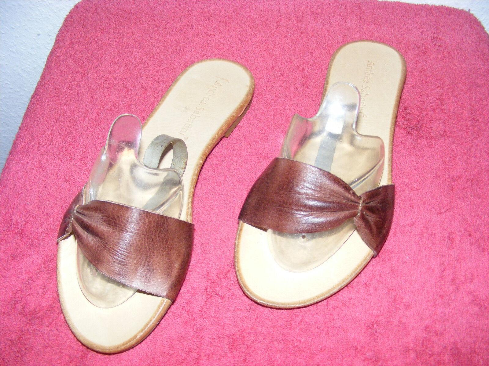 Andrea Sabatini nuevo sandalias zapatillas, estorbos señora marrón plana