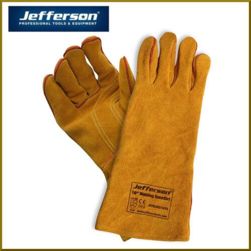 "JEFFERSON 16/"" YELLOW WELDING GAUNTLETS WITH KEVLAR STITCHING"