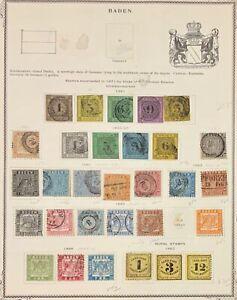 Baden #1//28 #LJ1-LJ3 Used CV$1475.25 1851-1868 Concentric Cancels Collection