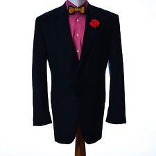 Ralph Lauren laine hommes blazer costume veste bleu foncé taille 44L fabriqué en