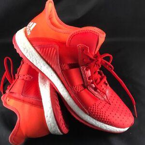 9df0027f6a30a Adidas Pure Boost ZG Trainer Red Orange Mens Cross Training Half ...