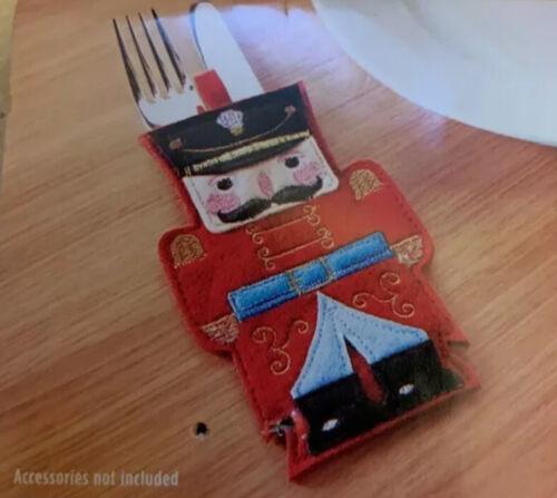 4 PACK Christmas NUTCRACKER Dinner Tableware Soldier Felt Cutlery Holders